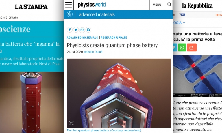 """A Josephson phase battery"" has been featured on PhysicsWorld, LaRepubblica and others"
